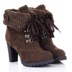 Fold Over Chunky Heel Ankle Boots Join Sammydress NOW Get YOUR $50 and a chance to GET THIS FOR FREE!!