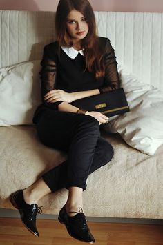 simple black & white, brogues