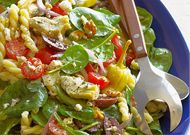 Greek Spinach-Salad Pasta