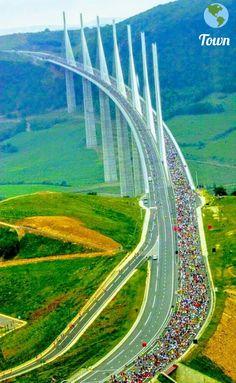 El puente mas alto del mundo, Millao, Francia