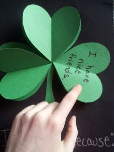 """I Am Lucky Because"" St. Patrick's Day craft"