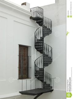 Colonial Spiral Staircase Stock Images - Image: 2104704 - New Ideas Spiral Staircase Outdoor, Winding Staircase, Grand Staircase, Spiral Staircases, Outdoor Stairs, Stair Kits, Stair Shelves, Stairs Window, Steel Stairs