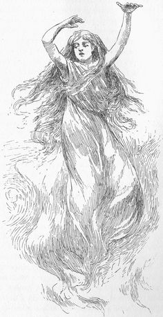 The ghostly Banshee, a spirit from Irish folklore who appears as a sign that a family member will soon die.