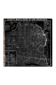 """Oliver Gal """"Faust's Map of San Francisco 1882"""" Canvas Wall Art on HauteLook"""