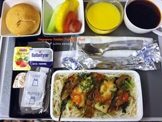 [Singapore Airlines] Meal On Board (Tokyo to Los Angeles) - Adult's Breakfast Menu