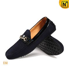 Soft suede cow leather a versatile driving shoes loafers for men and endowed with a silver hook ornament across vamp for a touch of shine. Available in 2 colors: navy and black! Driving Loafers, Driving Shoes, Suede Leather Shoes, Cow Leather, Loafer Shoes, Loafers Men, Soft Suede, Silver, Black