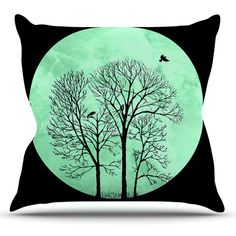 Kess InHouse Micah Sager Perch Teal Circle Outdoor Throw Pillow - MS3003AOP0