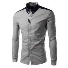 New Arrival Men Casual Shirt Long Sleeve Men's Brand Quality Dress Shirts Slim Fit Fashion Design chemise homme