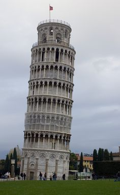 I walked up to the 2nd level of the Leaning Tower at Piza in Italy.  Not sure if people are allowed to go inside there these days, it made be extremely dizzy!
