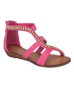 $13.99 Loving this Fuchsia Rebel Sandal on #zulily! #zulilyfinds
