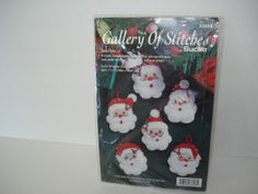 Bucilla Felt Santa Faces Ornament Kit by SweetLibertyStudio, $7.00