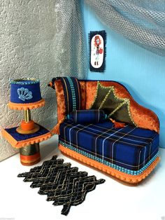 pinkrosemh Couch Bett Möbel Furniture für Barbie Monster High Lorna McNessie | eBay