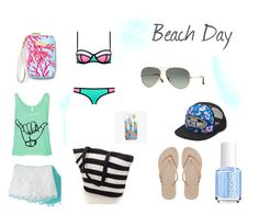 """Beach Day"" by selene-hinteregger ❤ liked on Polyvore featuring Essie, Havaianas, Nikki Strange, Lilly Pulitzer, Vans, Ray-Ban, women's clothing, women, female and woman"