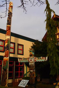 Museum front, Ladner BC Totem Poles, Our Town, Vancouver, Museum, Posters, Live, Totems, Poster, Museums