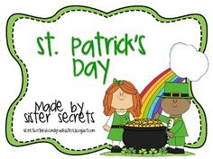 St. Patrick's Day: A Mini Unit - Sister Secrets - TeachersPayTeachers.com