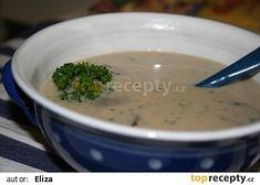 Bílá polévka z hlívy ústřičné recept - TopRecepty.cz Cheeseburger Chowder, Mashed Potatoes, Soup, Ethnic Recipes, Soups, Shredded Potatoes, Chowder