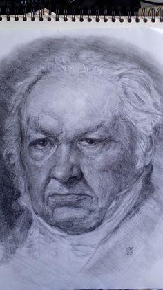 After Vicente López Portaña. Portrait of Goya.
