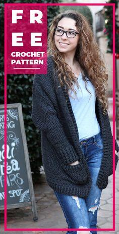 7 Best Crochet Patterns to Try on Ravelry Right Now Crochet Cardigan Pattern Free Women, Crochet Patterns, Crochet Ideas, Sweater Patterns, Knitting Patterns, Crochet Chain, Cute Crochet, Crochet World, Crochet Things