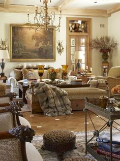 Love this room! Neutrals-soft-romantic. This would be great for my sun room!!