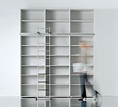 libreria con scala e luci | Home & Design | Pinterest