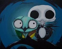 Owl ispiración Tim Burton (Annelie cahill