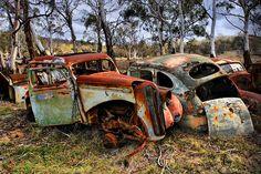 #HDR #vintage vintage car wreck