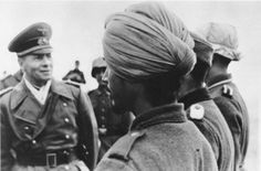 Rommel meeting Sikh Soldiers of the Azad Hind Fauj