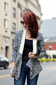 leopard blazer // cheetah is the new black