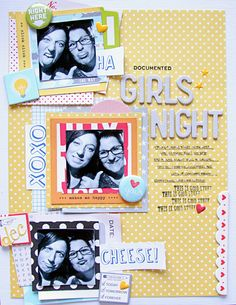 #papercraft #scrapbook #layout   Girls Night