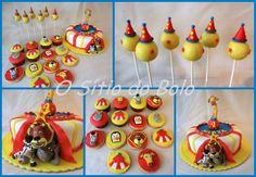 O sitio do bolo: Madagascar no Circo: bolo, cupcakes,bolachas e cak...