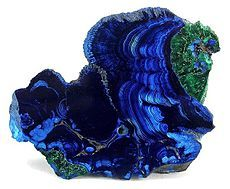Classic azurite & malachite  mineral specimen from the Bisbee mines, collected circa 1890
