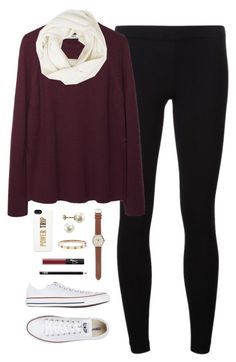 """""""fall breakkk"""" by classically-preppy ❤ liked on Polyvore featuring James Perse, Hope, Converse, Kate Spade, J.Crew, NARS Cosmetics and Christopher Fischer"""