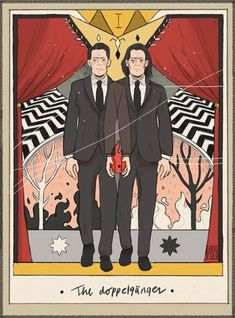Welcome to Twin Peaks - The doppelgänger. Twin Peaks tarot card by Alba. Twin Peaks Return, Twin Peaks 2017, Twin Peaks Tv, Twin Peaks Tattoo, David Lynch Movies, David Lynch Twin Peaks, Dc Anime, Between Two Worlds, Shows