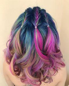 Hair Color Blue, Hair Styles, Beauty, Hair Plait Styles, Hair Makeup, Hairdos, Haircut Styles, Hair Cuts, Hairstyles