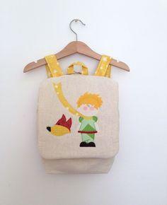 Zainetto bambini per la scuola materna, realizzato artigianalmente, personalizzabile. Il Piccolo Principe.