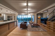 "No matter how luxurious the house may appear, Mooney never wants visitors to forget they are in shipping containers. For one, he left the exposed corrugated ceilings intact. ""The whole idea was that when you came in I wanted you to be able to see what the house was made out of,"" he says."