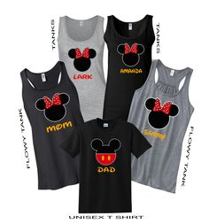"""Disney Minnie Flowy Tank Top T Shirt"" Vacation Family Shirts"