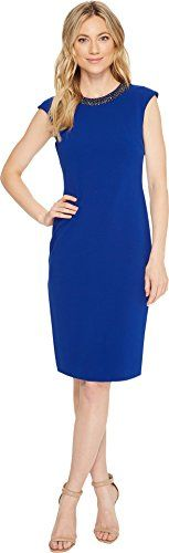 New Tahari ASL Tahari by ASL Womens Scuba Crepe Necklace Sheath Dress online. Find the  great Jessica Simpson Dresses from top store. Sku vaek91307cugd84400