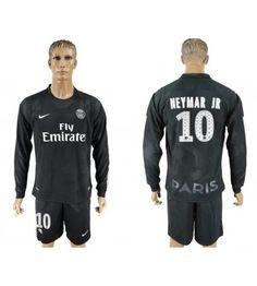 Billiga PSG Neymar Jr 10 Tredje Tröja 17-18 Långärmad Psg, Paris Saint, Neymar Jr, Saint Germain, Manchester United, Barcelona, Graphic Sweatshirt, Sweatshirts, Sports