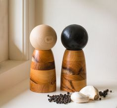 Engish Yew & Ash Salt and Pepper Mills by NaturalWoodCompany