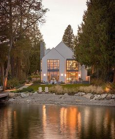 Looks like a fairy tale! The Lake Cove House is designed by Stuart Silk Architects. #Seattle #Washington @archdose Aaron Leit #archdose - Architecture and Home Decor - Bedroom - Bathroom - Kitchen And Living Room Interior Design Decorating Ideas - #architecture #design #interiordesign #homedesign #architect #architectural #homedecor #realestate #contemporaryart #inspiration #creative #decor #decoration