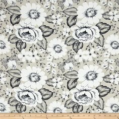 Dear Stella Floral Taupe from @fabricdotcom  From Dear Stella, this cotton print is perfect for quilting, apparel, and home decor accents. Colors include taupe, charcoal, and white.