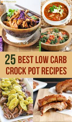25 of the Best Low Carb Crock Pot Recipes from My Natural Family. (Thanks for including some of my recipes!)