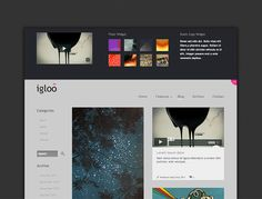 Igloo is a minimal, free responsive HTML /CSS site template.