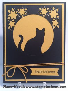STAMPINSHOUT nancyannnovak@gmail.com: Spooky Black Cat