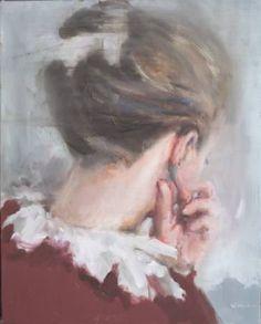 "Saatchi Art Artist Pauline Zenk; Painting, """"Das Gruene hinter den Ohren"""" #art"