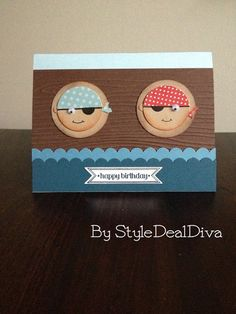 Sailor Boys Happy Birthday Card by StyleDealDiva using Stampin' Up! Itty Bitty Banners on Etsy, | http://amazingbirthdayideas.blogspot.com