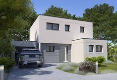 Rendu 1 de la maison individuelle Habitat Concept 82 My House Plans, Good Company, Garage Doors, Shed, Construction, Outdoor Structures, How To Plan, Outdoor Decor, Home Decor