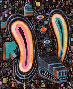 Acrylic paintings by Paris-based graphic designer, artist and illustrator Niark1 (Sébastien Feraut)