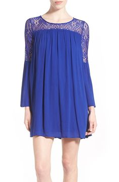 dee elle Lace Yoke Bell Sleeve Shift Dress available at #Nordstrom